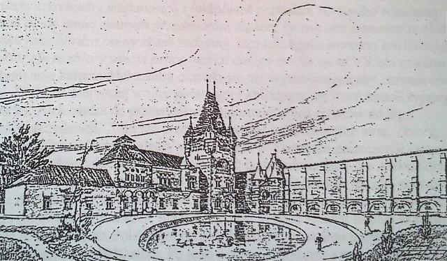 pałac szkic front