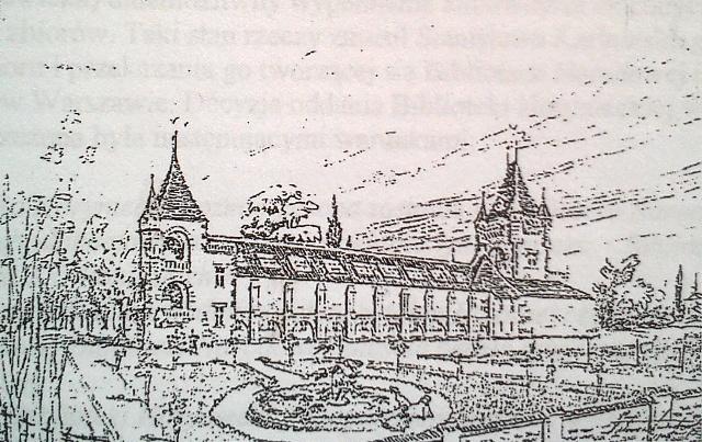 pałac szkic tył