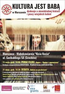 Plakat - Kultura jest Baba w Warszawie - maly